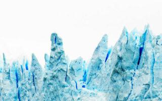 View of the Perito Moreno Glacier, Patagonia, Argentina. Copy space for text